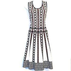 Vince Camuto   Southwestern Tribal Knit Dress L